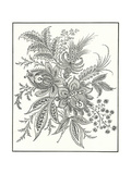 Paisley Flowering Stems Design Prints