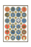 Religious Symbol Medallion Collection Plakater