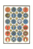 Religious Symbol Medallion Collection Prints