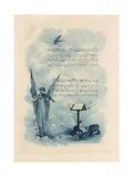 Painting of Angel Playing Violin with Music Print