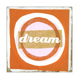 Dream Lettering on Circles Print