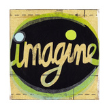 Imagine Lettering in Circle Prints