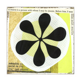 Collage of Black Flower in Circles Posters