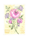 Pink, White, and Purple Flowers on Sheet Music Posters