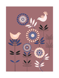 Flowers and Birds Premium Giclee Print