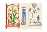 Multiple Decorative Dandelion Ornaments Posters