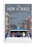 The New Yorker Cover - October 3, 2016 Regular Giclee Print by Chris Ware