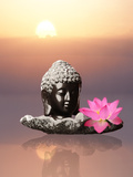 Buddha With Lotus Flower Prints by  Wonderful Dream