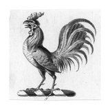 Stylized Rooster in Profile Prints
