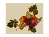 Clusters of Grapes with Assorted Fruit Art