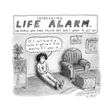 """TITLE: ""Introducing Life Alarm, for people who have fallen, but don't wan... - New Yorker Cartoon Premium Giclee Print by Roz Chast"