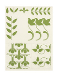 Graphic Leaves and Stems Symbols Posters
