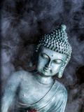 Buddha With Smoke Symbol Prints by  Wonderful Dream