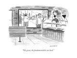 """Oh, great, the fundamentalists are back."" - New Yorker Cartoon Premium Giclee Print by Drew Panckeri"