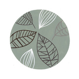 Leaf Designs in Circle Print