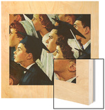 Bright Future Ahead Wood Print by Norman Rockwell