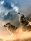 Fantasy Wolf Wolves Animal Plakaty autor Wonderful Dream