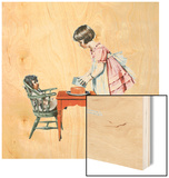 'See How Easy It Is' Wood Print by Norman Rockwell