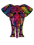 Decor Elephant Animal Colorful Posters by  Wonderful Dream