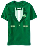 Fancy Irish Tux Costume Tee Skjorte