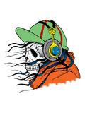 Hipster Modern Skull Horror Poster by  Wonderful Dream
