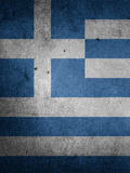 Greece Flag Print by  Wonderful Dream