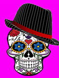 Hipster Skull Pink Style Posters by  Wonderful Dream