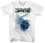 Samurai Jack- Riding a Tigersaurous T-shirts
