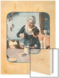'It's So Simple' Wood Print by Norman Rockwell