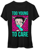 Juniors: Betty Boop- Too Young To Care T-shirts