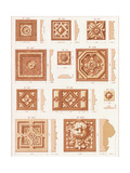 Various Carved Tiles and Border Embellishments Prints