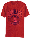 Courage the Cowardly Dog- Distressed Chracter Badge Shirt