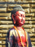 Buddha With Bamboo Background Posters by  Wonderful Dream