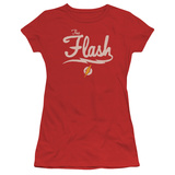 Juniors: The Flash- Lightning Script Logo T-shirts