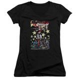 Juniors: Harley Quinn- Roller Derby Girl V-Neck Shirts