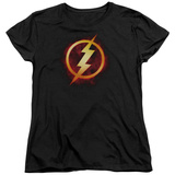 Womans: The Flash- Incandescent Logo T-shirts