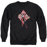 Crewneck Sweatshirt: Harley Quinn- Diamond Action T-Shirt