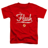 Toddler: The Flash- Lightning Script Logo T-Shirt