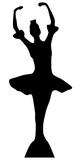 Ballerina Silhouette Figuras de cartón