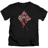 Juvenile: Harley Quinn- Diamond Action Shirts
