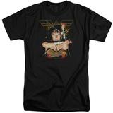 Wonder Woman- Deflecting Bullets (Big & Tall) T-shirts