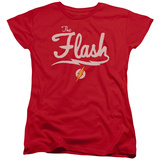 Womans: The Flash- Lightning Script Logo T-shirts