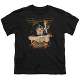 Youth: Wonder Woman- Deflecting Bullets T-shirts