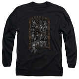 Long Sleeve: Batman- Arkham Asylum Gate T-Shirt