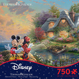 Thomas Kinkade Disney Dreams - Mickey & Minnie 750 Piece Jigsaw Puzzle Jigsaw Puzzle