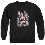 Crewneck Sweatshirt: Harley Quinn- Roller Derby Team T-Shirt