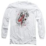 Long Sleeve: Harley Quinn- Happy Manic Sketch T-Shirt