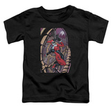 Toddler: Harley Quinn- Coaster Spiral Shirt