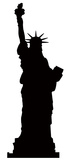 Statue of Liberty Silhouette Cardboard Cutouts