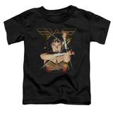 Toddler: Wonder Woman- Deflecting Bullets T-Shirt